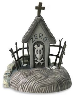 WDCC Disney Classics The Nightmare Before Christmas Zero's Dog House From The Disney Movie The Nightmare Before Christmas - Gingerbread ideas - Christmas Nightmare Before Christmas Film, Nightmare Before Christmas Decorations, Halloween Decorations, Halloween Village, Halloween House, Halloween Pics, Coraline, Christmas Gingerbread House, Gingerbread Houses