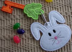 Easter Bunny Magic Key Machine Embroidery by EmbroideryGarden, $5.00