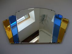 Art deco fan mirror
