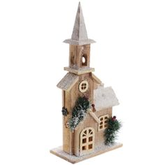 Buy Winter Wonderland Light-up Wooden Snow House at Home Bargains Christmas Centerpieces, Xmas Decorations, Winter Wonderland Lights, Christmas Gingerbread, Christmas Ornaments, Pottery Houses, Wood Artwork, Decor Ideas, Craft Ideas