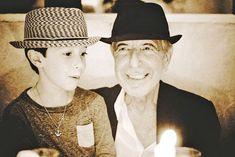 Leonard Cohen, son, Adam Cohen, favourite photo, father, family, Simon Button