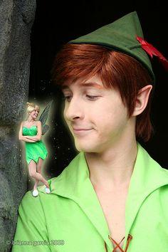 Peter Pan & Tinkerbell - I love this!!! #Disneyland