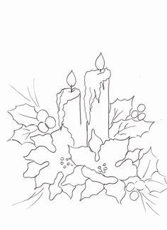 Pintura em Tecido Passo a Passo: Pintura em tecido- Vela e bico de papagaio Stencil Patterns, Painting Patterns, Embroidery Patterns, Drawing Templates, Art Template, Stencil Painting, Fabric Painting, Christmas Colors, Christmas Art