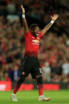 Fred of Man Utd appeals during the Premier League match between Manchester United and Leicester City at Old Trafford on August 10 2018 in Manchester. Stylish Outfits For Women Over 50, Man Utd Fc, Manchester United Wallpaper, Manchester United Players, Soccer World, Premier League Matches, Old Trafford, Man United, Fun Workouts