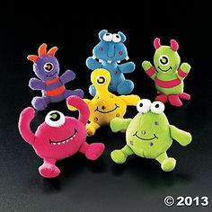 Plush Monsters - OK, so these are a bit more expensive, but we could give one to each quartet as a mascot.... and even if there are 24 quartets, it'd only cost us $30!
