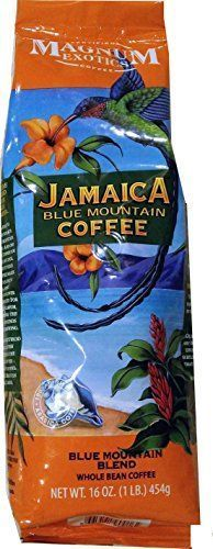 Magnum Exotics Jamaica Blue Mountain Coffee 1lb Blue Mountain Blend Whole Bean *** Click image to read more details.