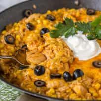 One Pan Southwest Chicken and Rice Recipe