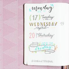 Date headers - Bullet Journal