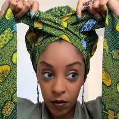 Creative Premium Print Headwrap Combined With A Nightcap(African Fruit – Anewow African Head Scarf, African Hair Wrap, African Head Wraps, Hair Wrap Scarf, Hair Scarf Styles, Curly Hair Styles, Scarf Head Wraps, Wig Styles, Latest African Fashion Dresses