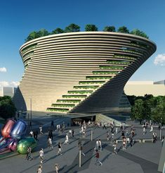 Project for a new Museum of Contemporary Art in CityLife, Milan, Italy, designed by Daniel Libeskind - Not Realized