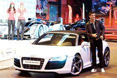 Cristiano Ronaldo, Audi r8 - dream car and dreamy man all in one picture.