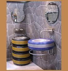 Neumáticos para el baño #design #ideas #tyres #bathroom