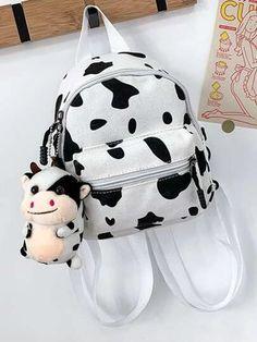 Women's Bags | Crossbody Bags, Backpacks & More | ROMWE USA Backpack Bags, Fashion Backpack, Cheap Bags, Cow Print, Charmed, Backpacks, Handbags, Purses