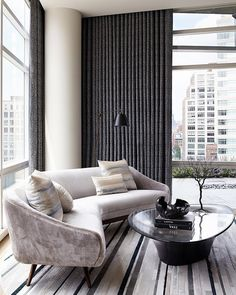 Tribeca Triplex by Amy Lau Design | #livingroom