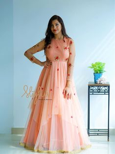 Beautiful Kannur Girl Poorna In Transparent Black Saree - Tollywood Stars Long Gown Dress, Frock Dress, Long Gowns, Frock Fashion, Fashion Dresses, Women's Fashion, Indian Designer Outfits, Designer Dresses, Designer Wear