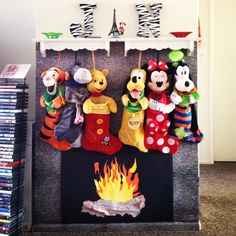 our homemade fireplace and mantel diy crafts homemade fireplace holidays disney stockingsdisney christmas