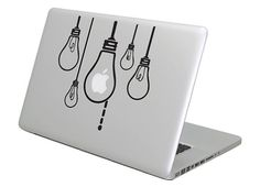 Bulbs MacBook Decal sticker. Choose your by UnitedKingdomOfDecal