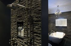 Natuursteen Wand Badkamer : 37 best badkamer images on pinterest bathroom bathrooms and