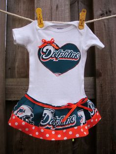 Miami Dolphins inspired cheerleader dress by SMPstore on Etsy, $27.95