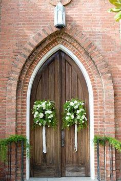 25 best was wedding church flower entrance images on pinterest front entrance decor church wedding junglespirit Gallery