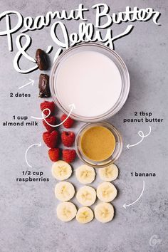 5. Peanut Butter and Jelly #greatist http://greatist.com/eat/simple-smoothie-recipes