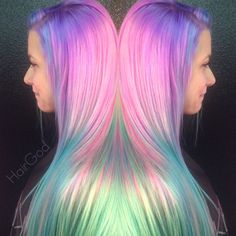 """Rickey Zito is the owner of HeadRushSalon in Gonzales, Louisiana, a salon that Zito describes as """"a very edgy salon filled with passionate employees"""". When MODERN found this colorful finish on Zito's instagram (@HairGod_Zito), we asked for details. Zito obliged. This process took 2 hours and he charged $200.  Formulas:"""