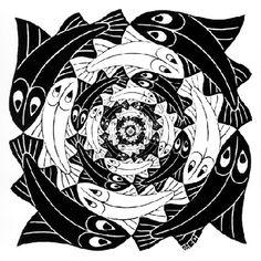 Circular Fish - M.C. Escher, 1956