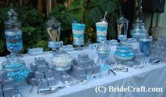 images of candy buffets at weddings | Tags: blue wedding , candy ...