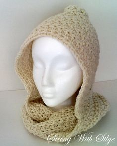 Free Crochet String With Style: Infinity Hooded Scarf Pattern -  I want one!! someone make me one :)