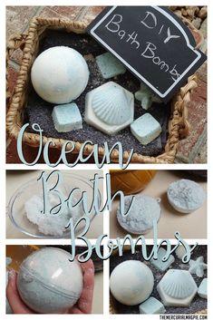 DIY Ocean Bath Bombs