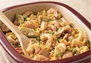 Speedy Shrimp & Sausage Paella - The Pampered Chef®   Substitute 2 cups chicken