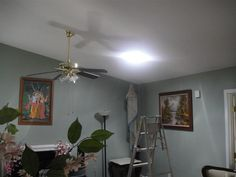 """Living Room after 14"""" Solatube product install - 10:30am!"""
