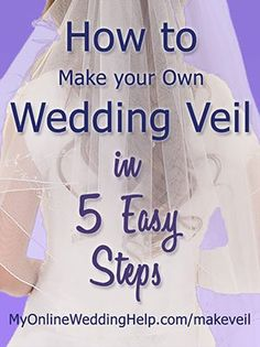 How to make your own wedding veil. Videos and step-by-step instructions for a wedding veil DIY. This is the overview, with links to each of five steps. veils diy How to Make a Wedding Veil with Comb. Veil Diy, Diy Wedding Veil, Wedding Crafts, Budget Wedding, Wedding Planning, Wedding Ideas, Wedding Hair, Wedding Blog, Floral Wedding