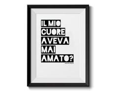 Il mio cuore aveva mai amato Romeo e Giulietta di SACCHARUM