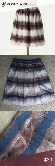 "Edme & Esyllte inkwell cotton skirt Great condition. Side zip and clasp. Beautiful crochet lining. Side zip and clasp. 12.75"" across waist. 19"" length. Anthropologie Skirts"