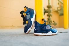 Waking up early for these tomorrow? Nike Air Jordan 4 Retro Navy Metallic Gold.  http://ift.tt/1LuyZQx