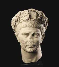 A ROMAN MARBLE PORTRAIT HEAD OF A TETRARCH  CIRCA LATE 3RD CENTURY A.D.
