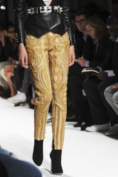 Woven Pants Trend for Spring Summer 2013.  BalmainSpring Summer 2013.   #fashion  #trends