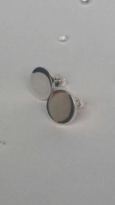 Solid Silver Earrings Nail Head Earrings Unisex Earrings by CMFDesignsJewellery on Etsy Sterling Silver Earrings Studs, Pearl Earrings, Etsy Jewelry, Jewellery, Nail Head, Round Earrings, Silver Rounds, Beautiful Earrings, Lisa
