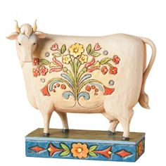 "Jim Shore Folk Cow Figurine ""Till The Cows Come Home"" 4.75"" Enesco http://www.amazon.com/dp/B00HY4WHV0/ref=cm_sw_r_pi_dp_vVx9tb1C5VJMN"