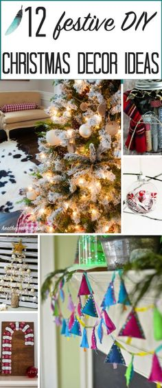 12 great DIY Christmas decor ideas to try at home! Love the candy cane!! from heatherednest.com