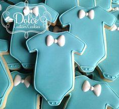 Bowtie Onesies for a Baby Shower #littleman #babyshower #babyshowercookies #babycookies #bowties #decoratedcookies #customcookies #sugarcookies #cookies #cookiesintoronto #tdot #torontobakery #toronto #torontocookies #torontosugarcookies #torontodecoratedcookies #yyz #etsy #dolcecustomcookies by dolcecustomcookies
