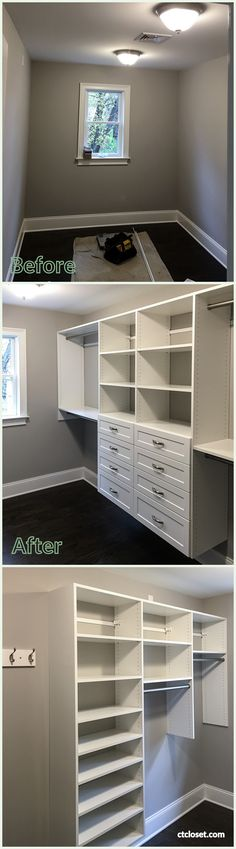 Before And After Walk In Closet Installed In Fairfield County, CT. Shelves,  Hanging