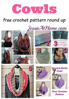 Cowls free crochet pattern round up from Jessie At Home Crochet Quilt, Crochet Yarn, Free Crochet, Knitting Patterns, Cowl Patterns, Quilt Patterns, Crochet Scarves, Crochet Sweaters, Ponchos