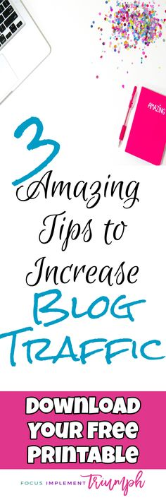 Want to double your blog traffic? This post shares 3 Action Steps that you can implement to grow your website's traffic. | Blog traffic, blog traffic tips, blog traffic increase, blog traffic pinterest, blog traffic from pinterest, how to get blog traffic, facebook traffic, facebook traffic social media, website traffic, website traffic tips, website traffic increase, website traffic ideas, website traffic sources #blog #bloggingtips #blogginglikeaboss  #blogger #website #wordpress…