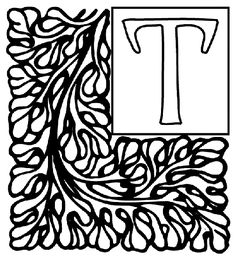 Alphabet Garden T coloring page