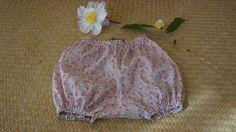 Bloomer en Liberty Eloïse rose taille 6 mois : Mode Bébé par la-vallee-heureuse-creations