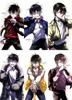 Osomatsu-san: Osomatsu, Karamatsu, Choromatsu, Ichimatsu, Jyushimatsu and Todomatsu Anime Chibi, Anime W, Dark Anime Guys, Hot Anime Boy, Cute Anime Guys, Anime Love, Kawaii Anime, Yandere, Osomatsu San Doujinshi