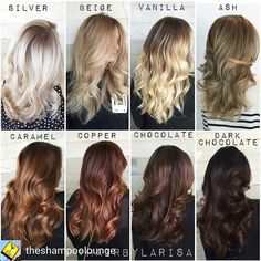 @Regrann from @theshampoolounge -  What color is your #hairgoal Come on in for a free consult with our colorists and check out our selection of hair coloring products #Repost @larisadoll  ||An oldie but a goodie|| Which one is your favorite & why ? #HairByLarisaLove  Proud to be #LicensedToCreate #hair #haircolor #chart #hairinspo #Regrann