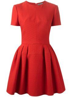 Alexander Mcqueen Pleated Mini Dress - L'eclaireur - Farfetch.com